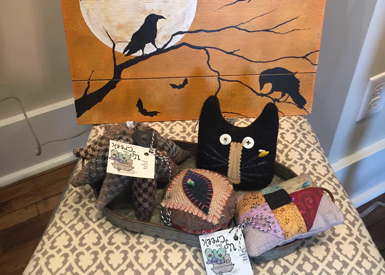 Handmade Jewelry Pillows & Wreaths