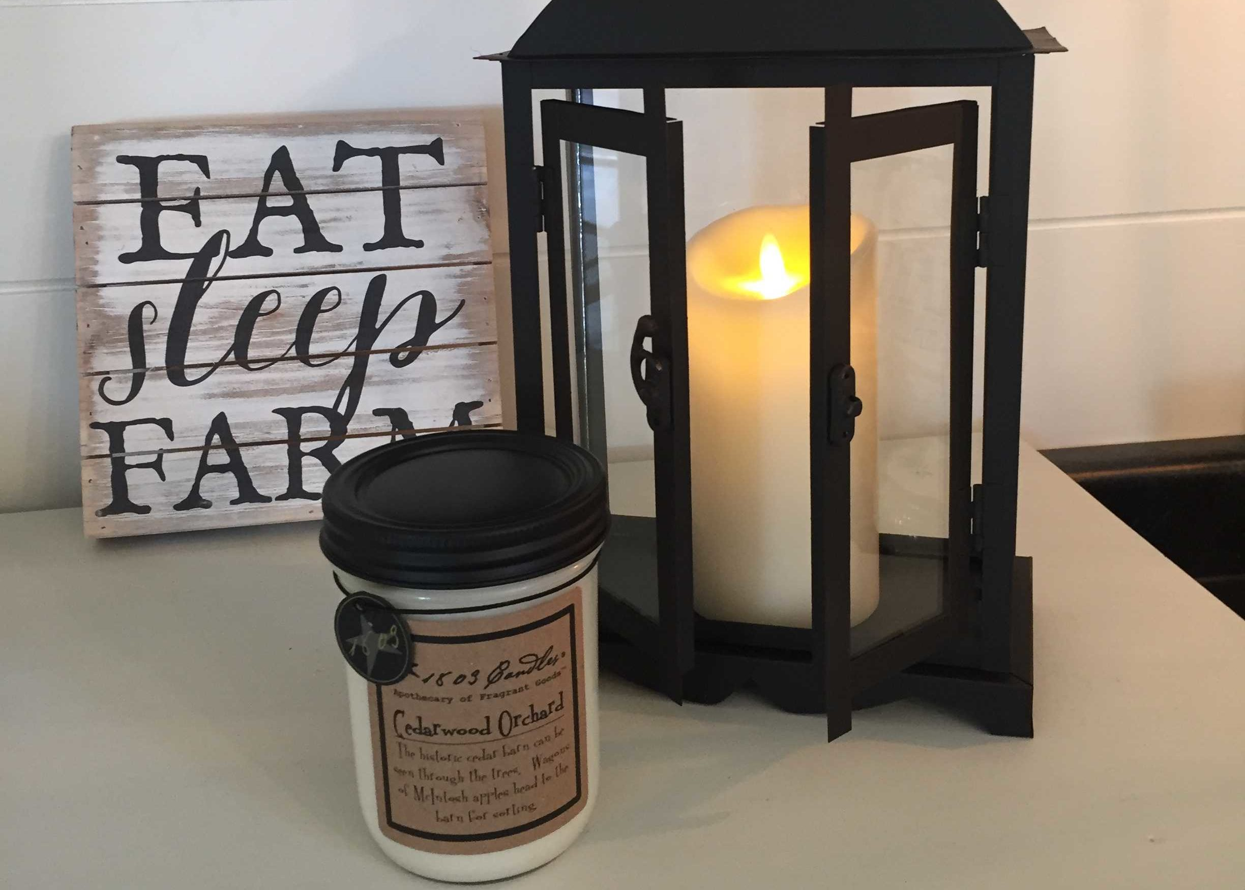 Moving Flame Candles & Vintage Decor
