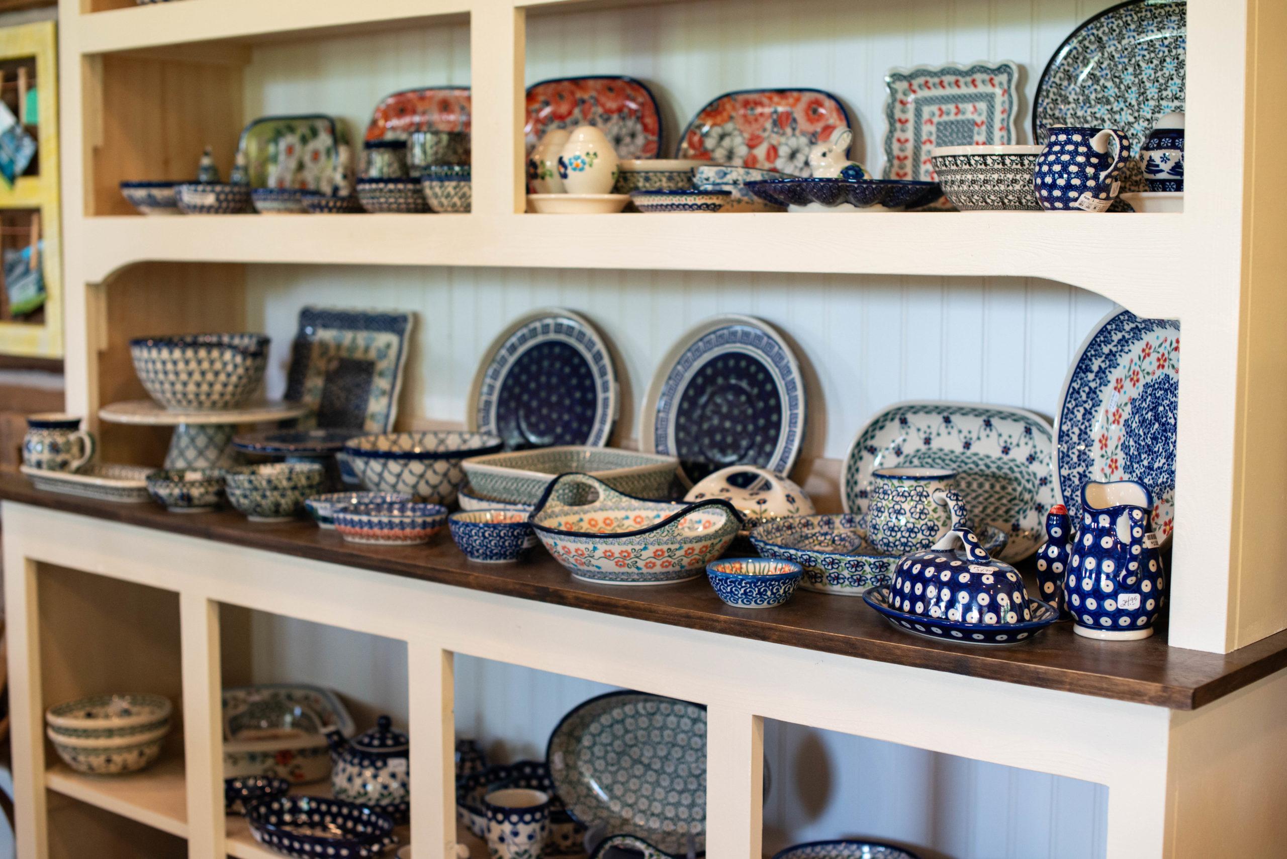 Antique Stores Reclaimed Vintage Polish Pottery D