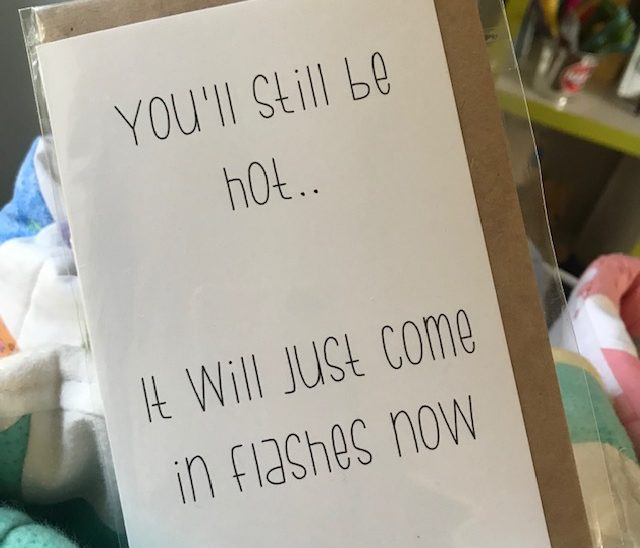 Hot Flashes Greeting Card Local Gift Shop